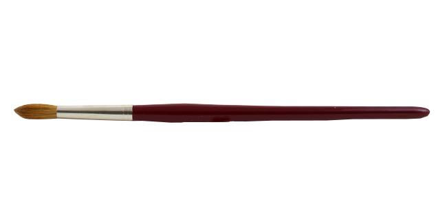 Runder Aquarellpinsel mit Besatz aus Marderhaar