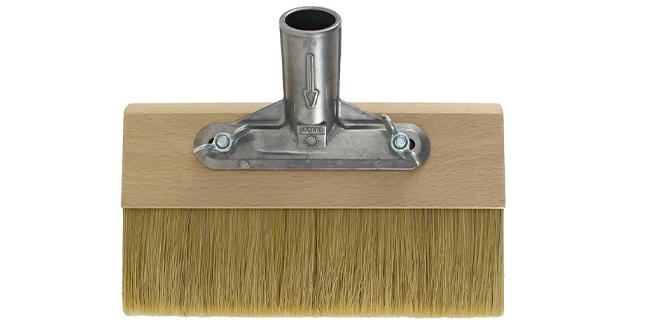 Versieglungsbürste mit hellem Besatz aus Borstenmischung und Stielhalter